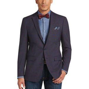 Calvin Klein Navy Plaid Sports coat 44R